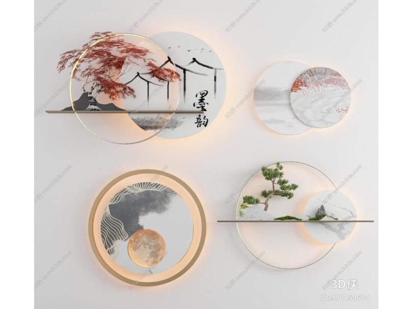 新中式立体墙饰 挂件