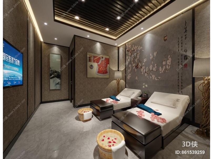 新中式足浴会所 包间 美容