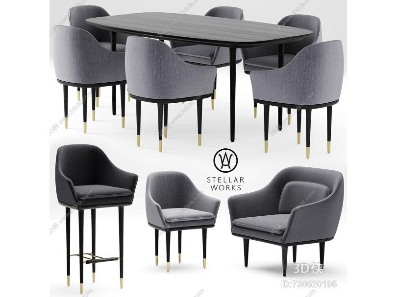 后現代餐桌椅