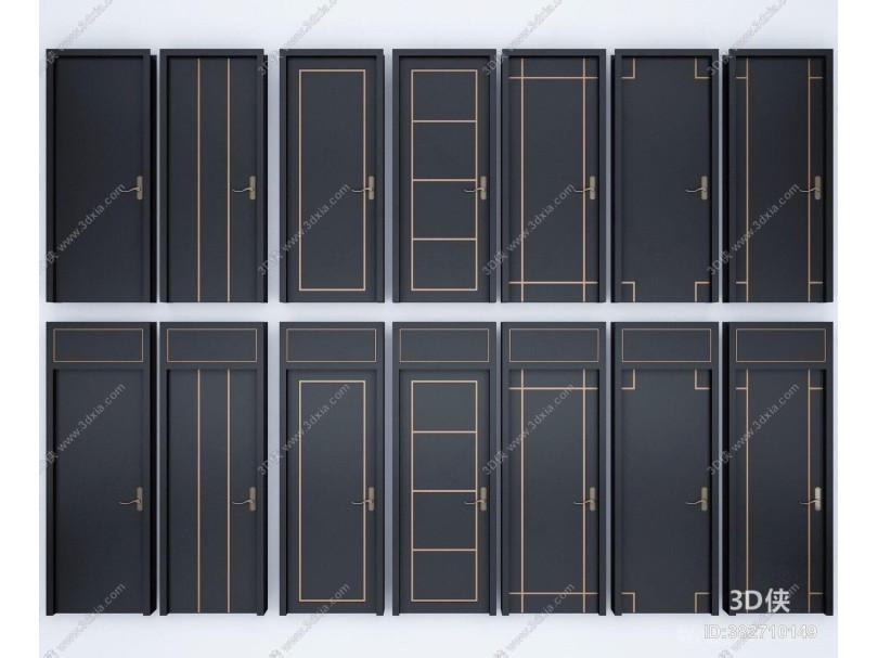 现代实木烤漆门