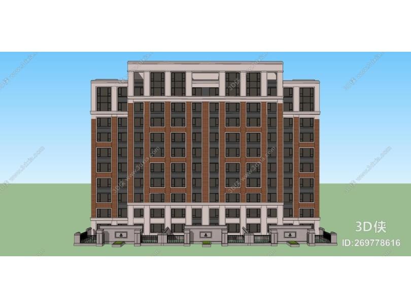 欧式多层住宅 小区建筑 高层住宅