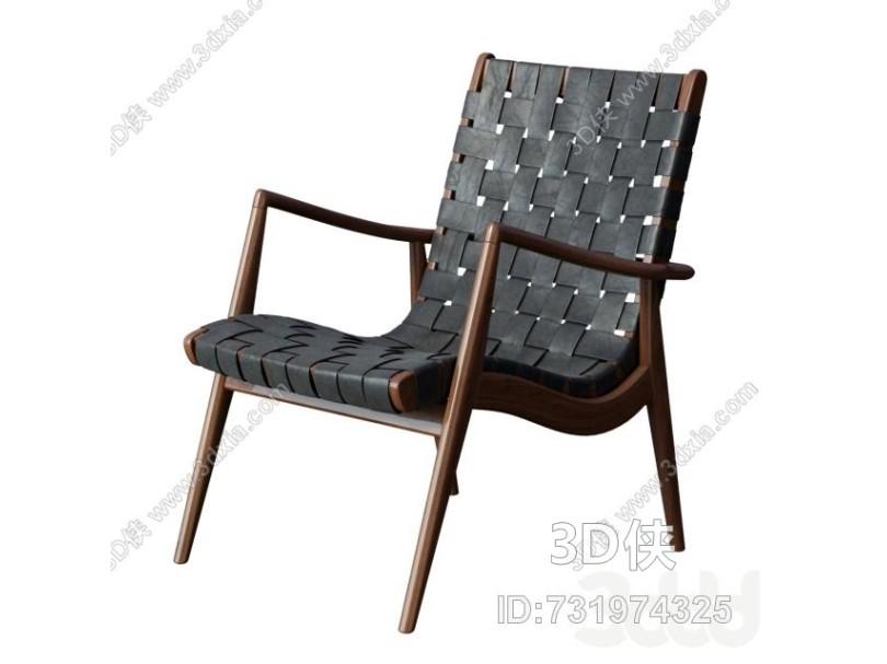 現代休閑椅WLC 22 Woven Leather Armchair