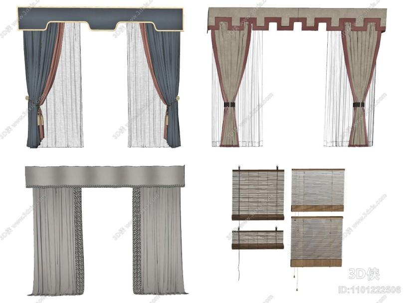 新中式窗帘 百叶帘 饰品