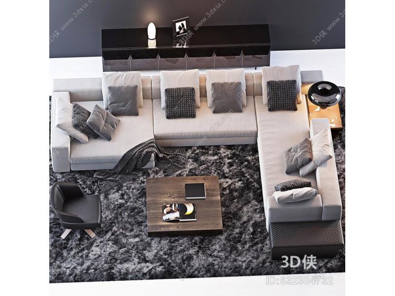 意大利Minotti米洛提现代沙发组合