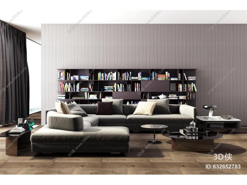 Piliform沙发茶几边几组合书柜