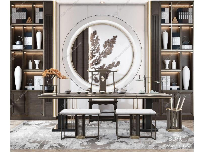 新中式茶室 家具组合