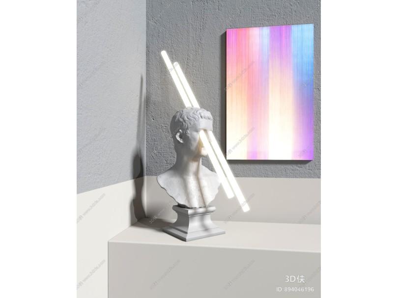 现代创意人物雕塑台灯