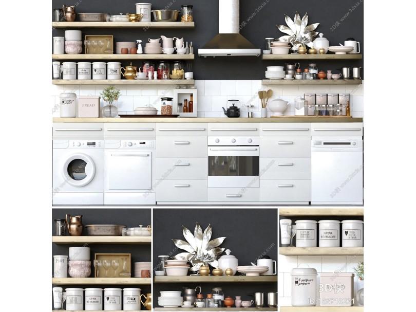 现代厨房用品 调料 餐具