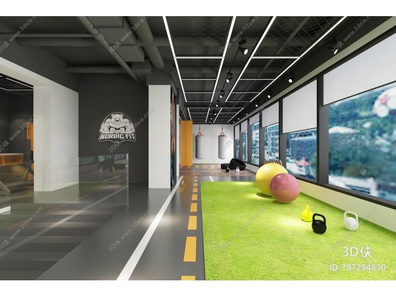 现代健身房 健身器材