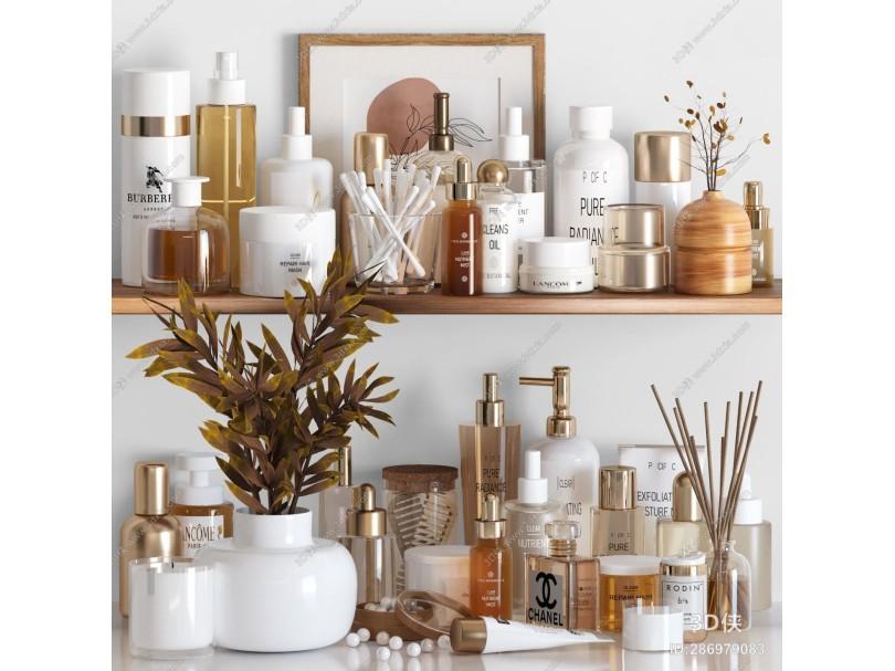 現代洗滌用品 洗漱用品組合 化妝品