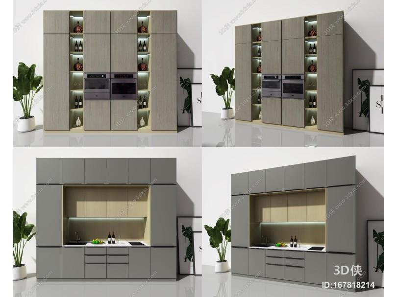 现代电器柜 橱柜组合