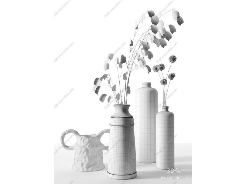 现代陶瓷 陶罐 摆件