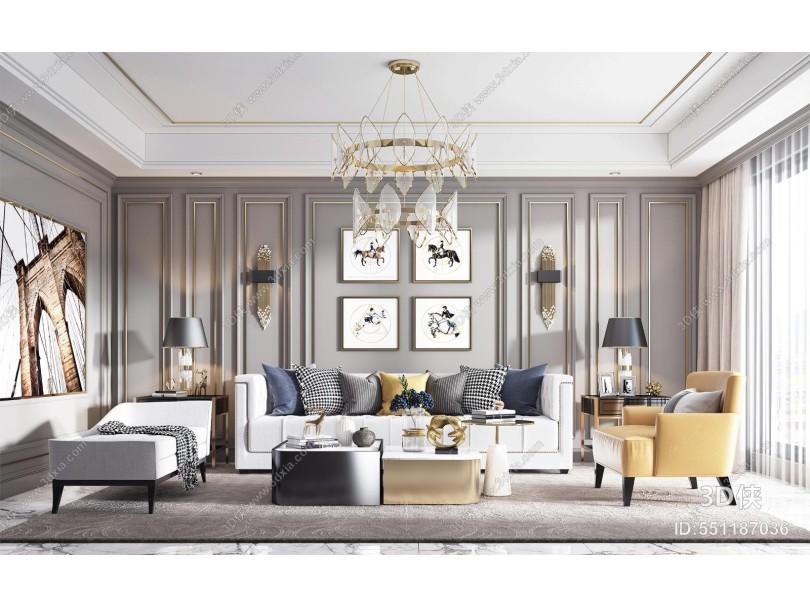 現代客廳 沙發組合