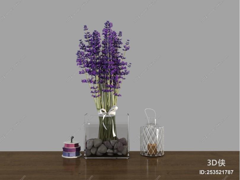 现代薰衣草 花瓶