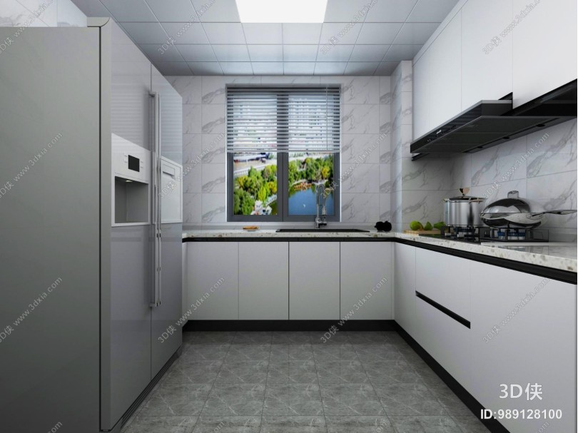 现代厨房 卫生间