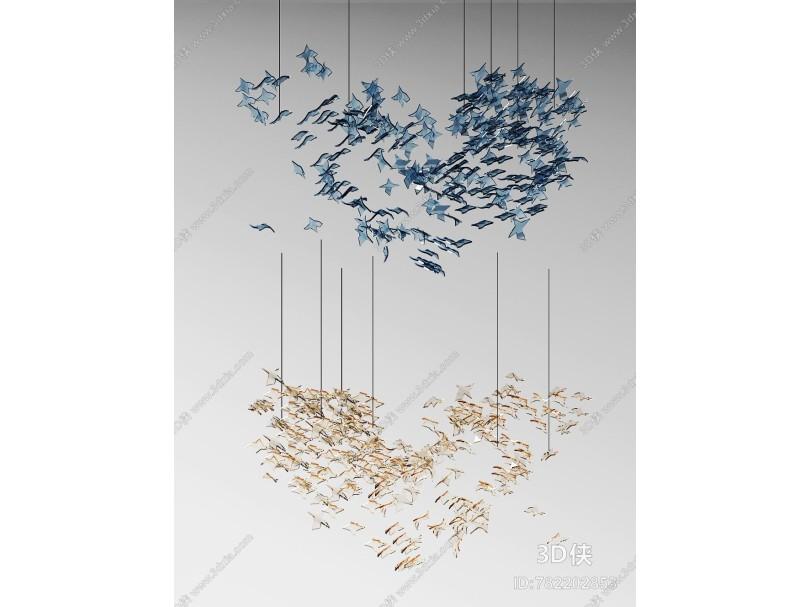 现代工装水晶装饰吊灯
