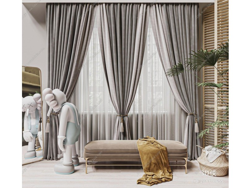 现代窗帘纱帘