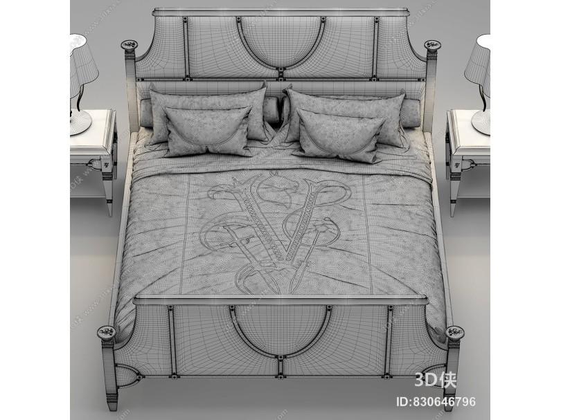 双人床奢华卧室酒店床2011版本