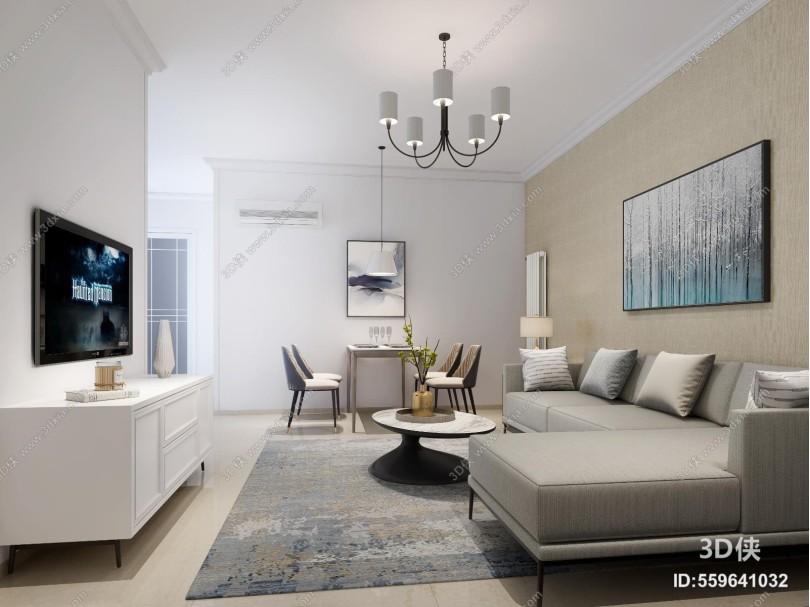 现代客餐厅 卧室 沙发