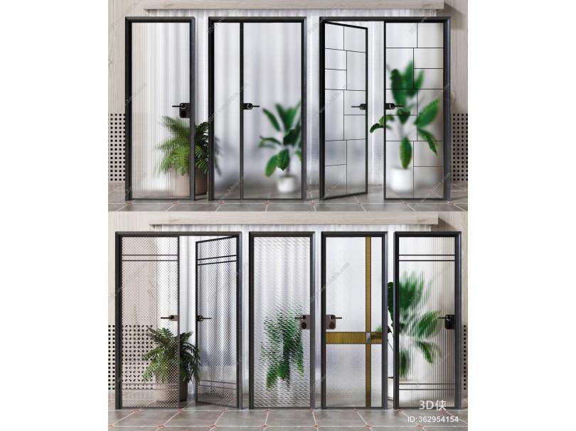 现代玻璃门