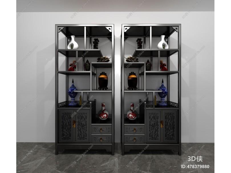中式博古架 装饰柜