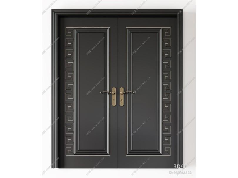 新中式轻奢房门 单开门 双开门