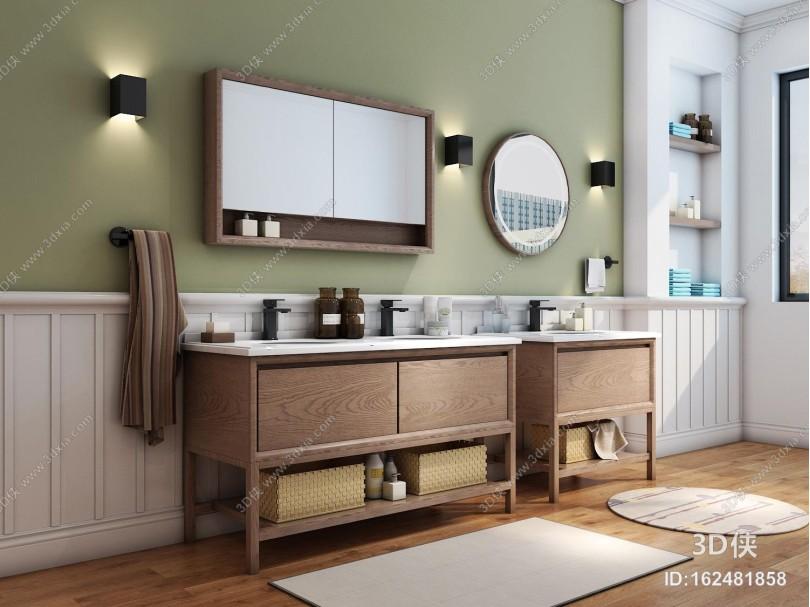 北欧实木浴室柜