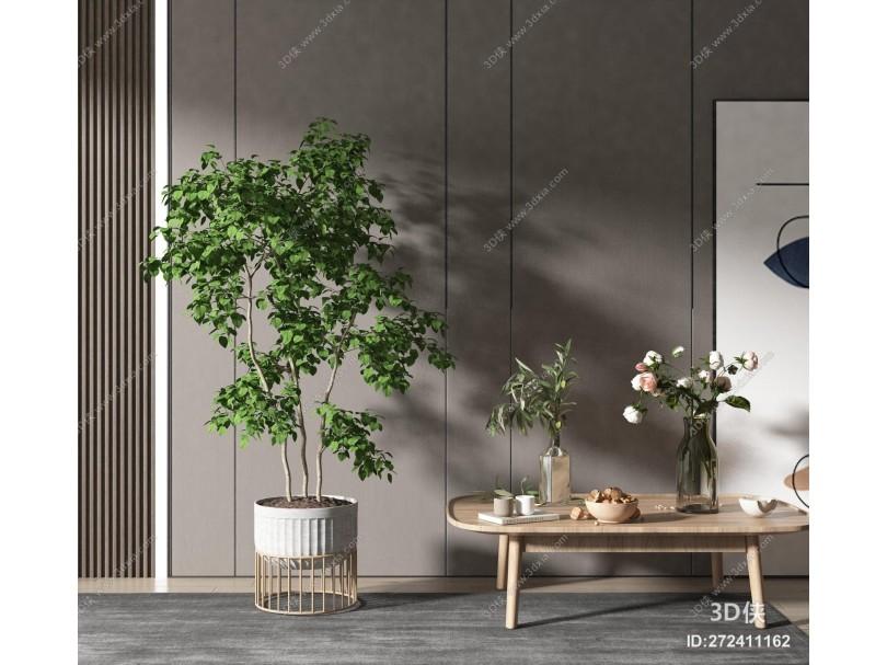 现代风格绿植盆栽