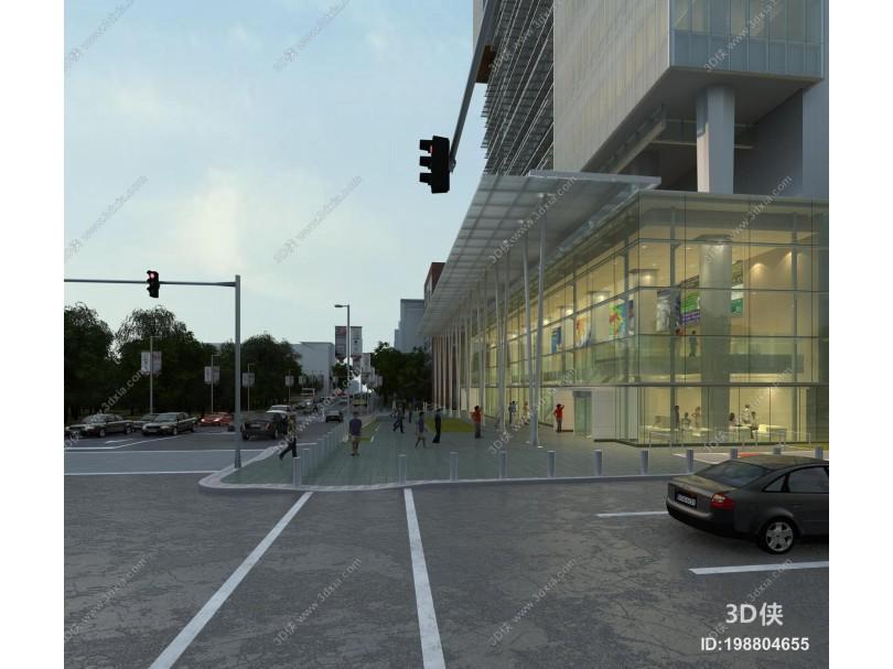 现代商业区办公楼