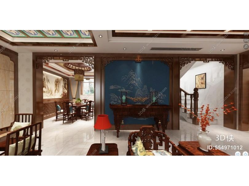 传统中式客餐厅 茶室