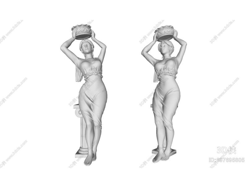 现代侍女雕塑