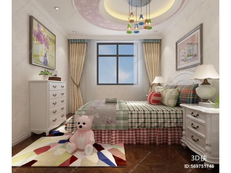 现代儿童房 木地板
