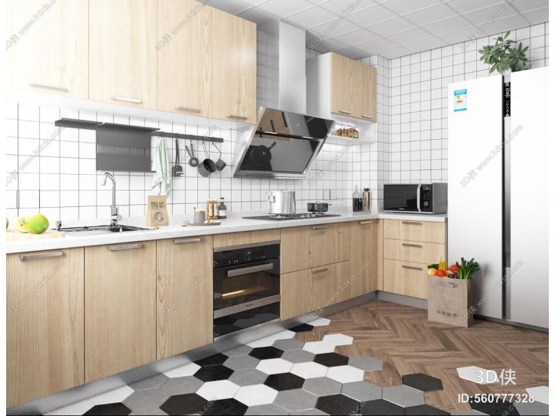 北欧厨房 冰箱