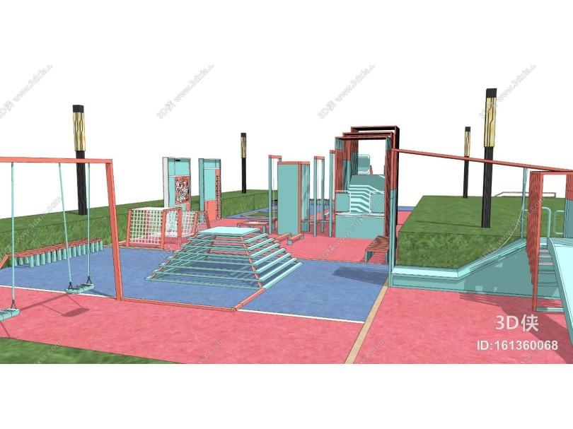 现代儿童户外娱乐设施