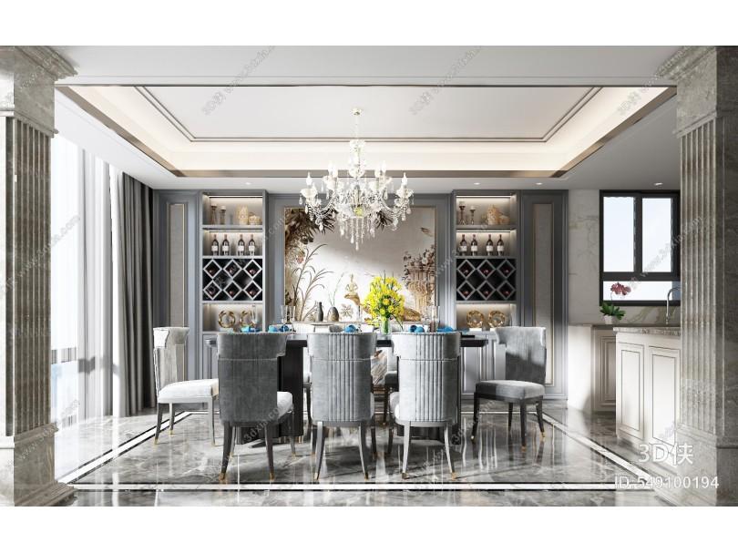美式簡約餐廳 餐椅 餐桌