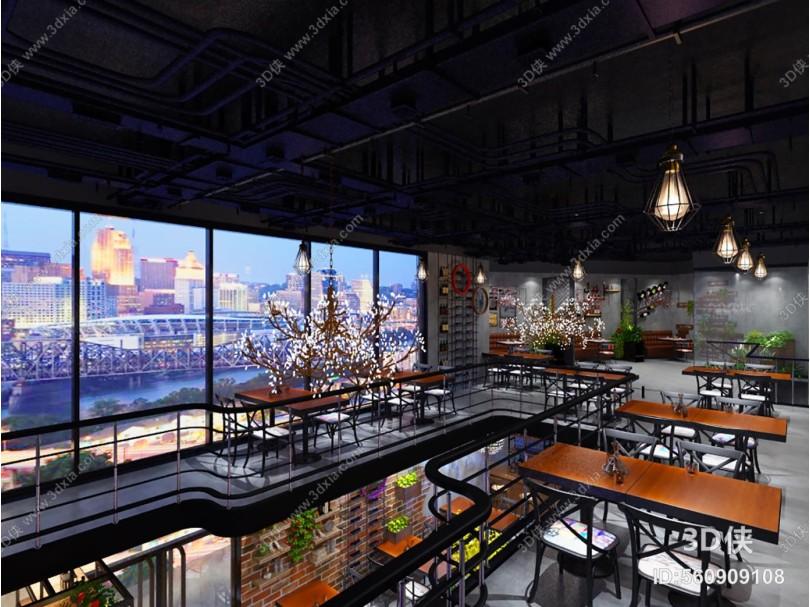 工业风餐厅餐饮 音乐餐吧