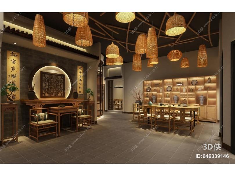 新中式茶楼 茶具