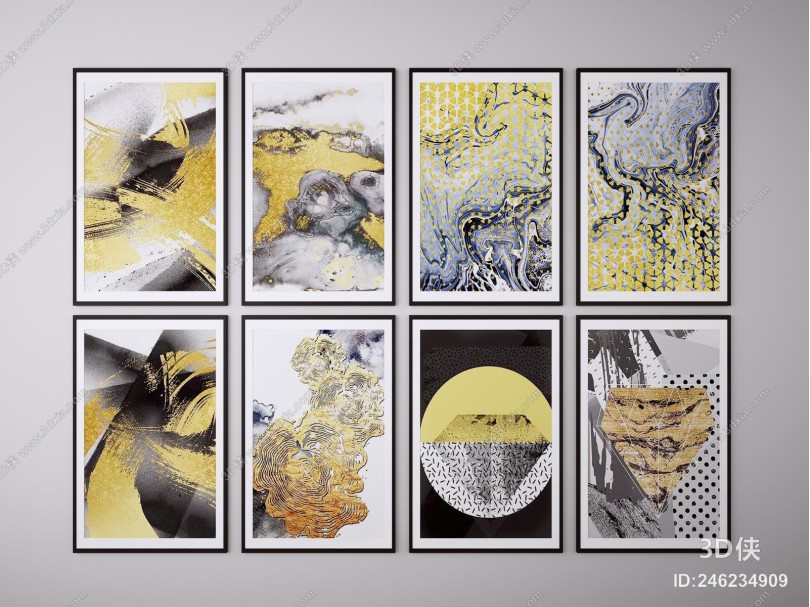 新中式装饰挂画