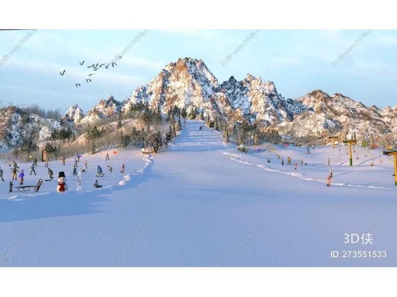 现代滑雪场