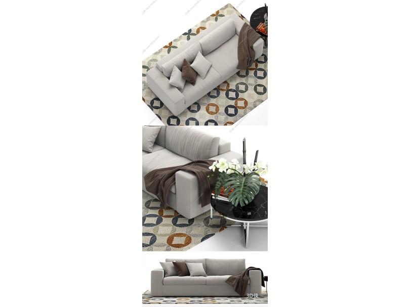 現代布制沙發