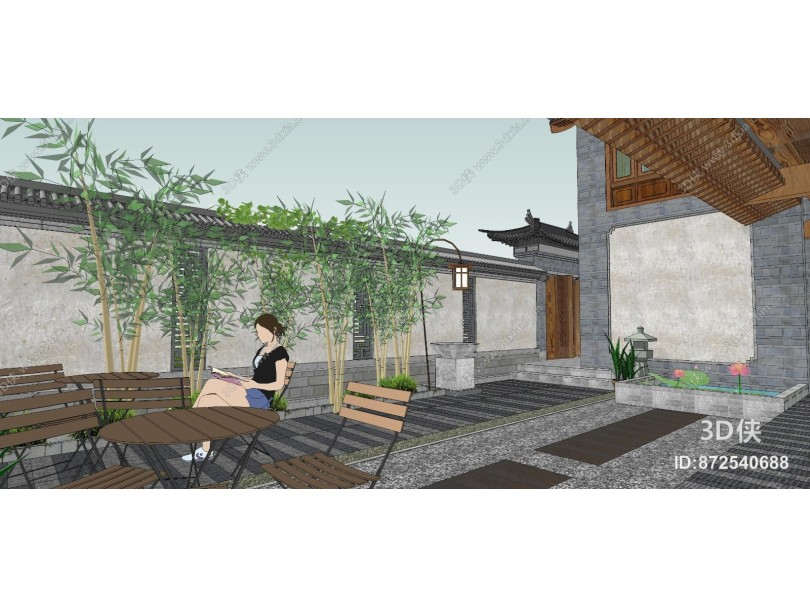 中式四开间院子