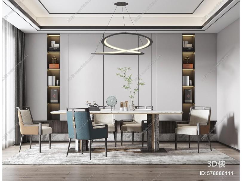 新中式餐厅 餐桌椅