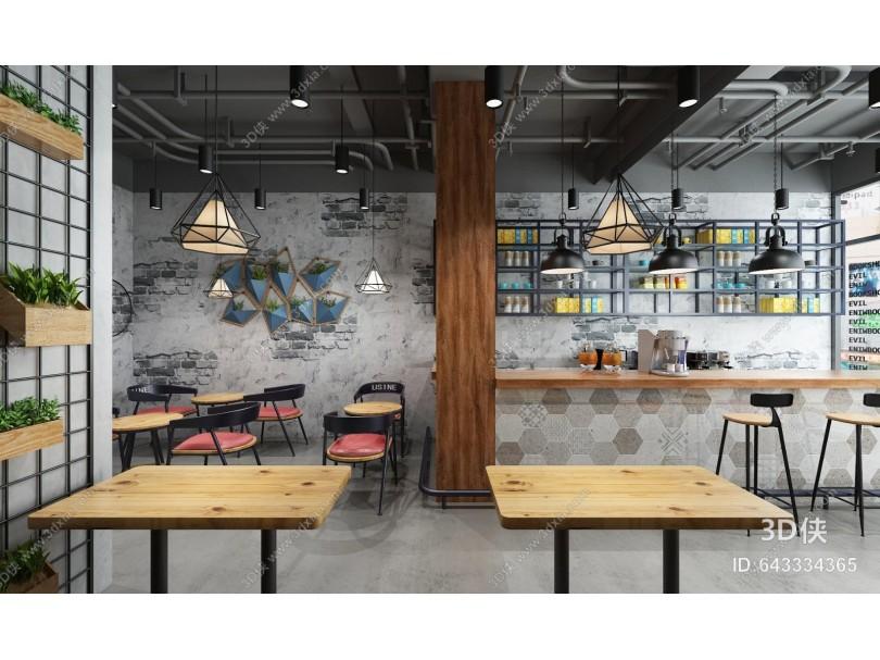 工业风奶茶店咖啡厅
