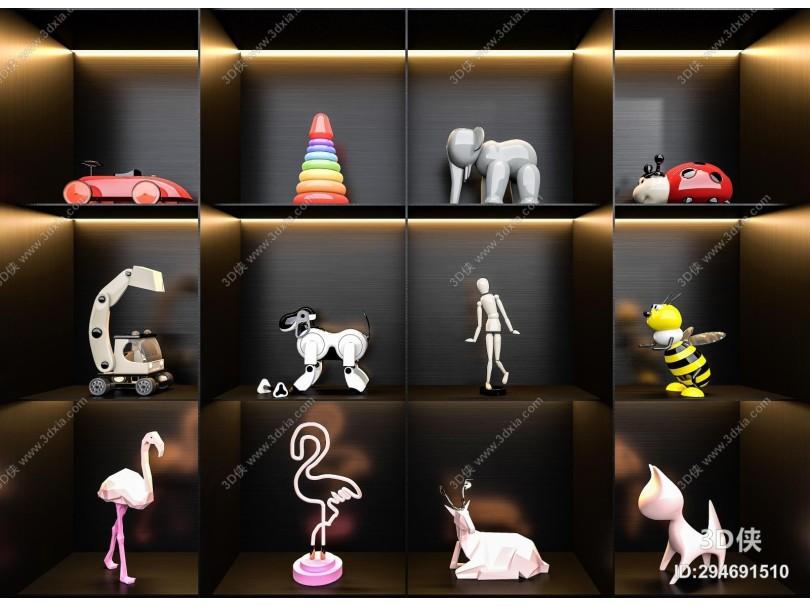 现代儿童玩具摆件