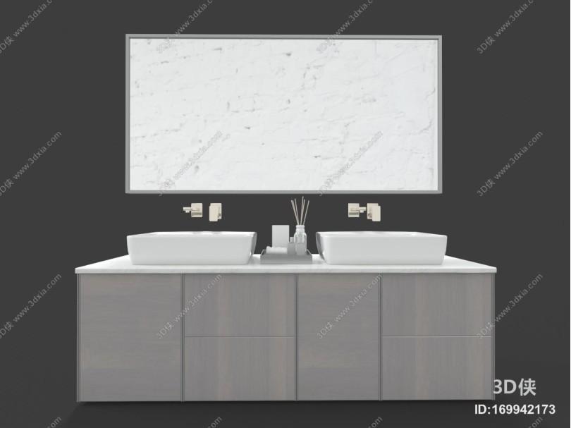 现代风格卫浴柜