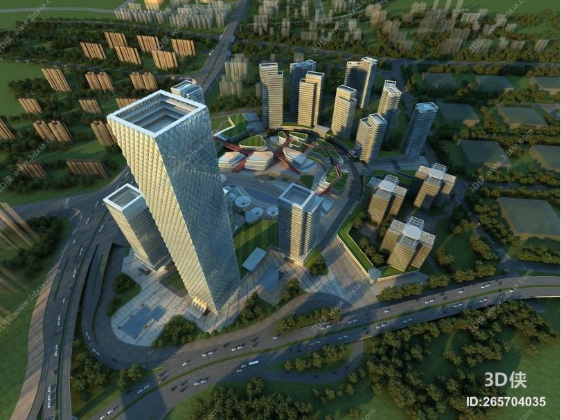 现代商业综合体 城市规划 高楼大厦