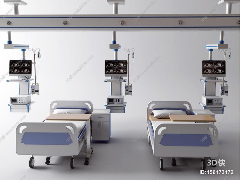 现代病床 医用床