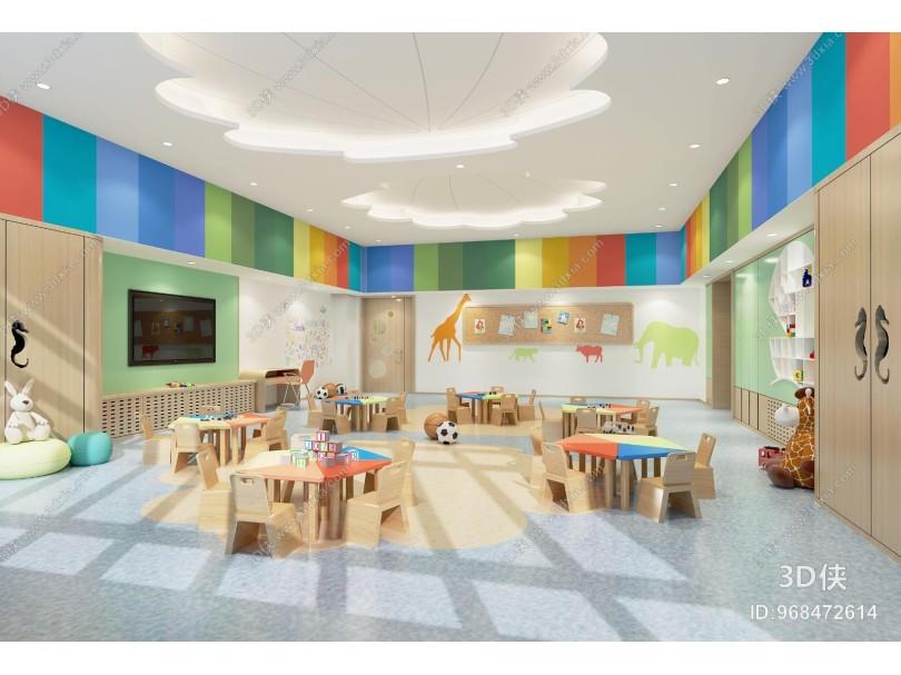 现代学校 幼儿园教室