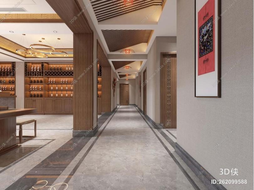 新中式休息娱乐 茶室