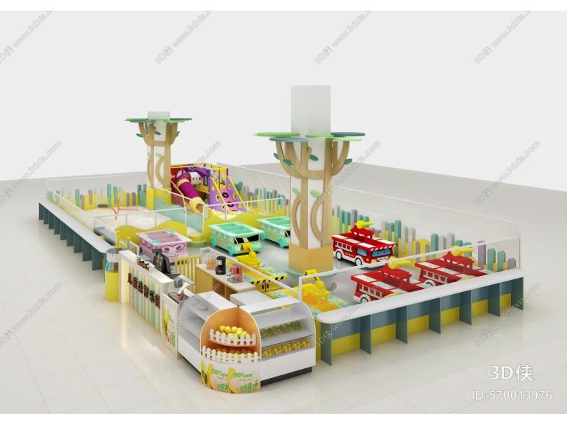 现代游乐园 益智玩具 滑梯